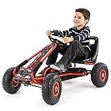 Bentley Kids - Gokart ab 3 Jahren - Gummireifen & Handbremse - Rot/Schwarz