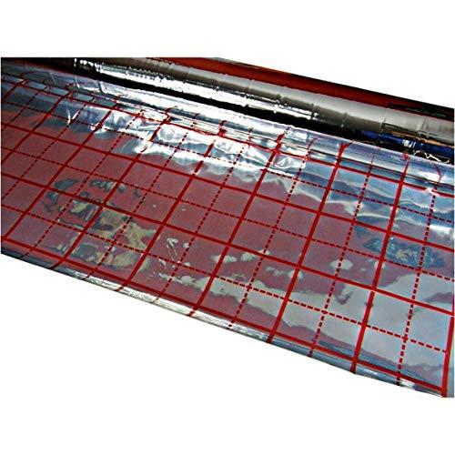 Rasterfolie für Fußbodenheizung 50 m2 Alufolie der Dicke 105 µm