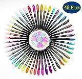 Fayttoli 48 Colores Bolígrafos de Gel, bolis colores, incluye purpurina, metálico, neón y clásicos, para scrapbooking, colorear, dibujar y artesanal