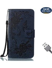 Aireratze Funda iPhone X,Cover iPhone X, Estilo Billetera Libro Cuero,PU Leather