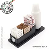 Elegante Porta Zucchero, Palette, Bicchierini Caffè Indispensabile Elemento di Arredo per l'Ufficio e la Casa.