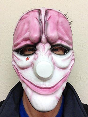 heist-payday-2-dallas-wolf-hoxton-in-resina-a-forma-di-maschere-da-gioco-maschera-da-clown