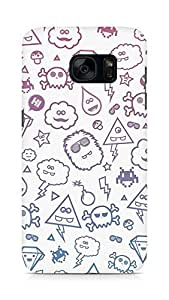 Amez designer printed 3d premium high quality back case cover for Samsung Galaxy S7 (Cute Monsters)
