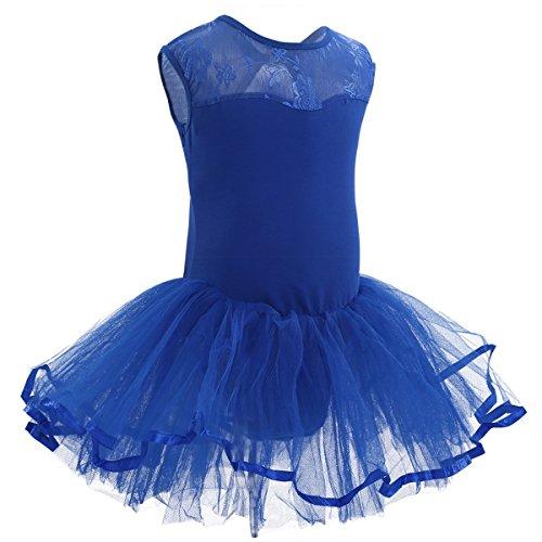 Kostüm Ballerina Blaue - iiniim Mädchen Kleider Ballettkeider Ballettanzug Turnanzug Trikot Tanz Leotard Kleider mit Tüll Rock Blau Ballettkleid 152-164/12-14 Jahre