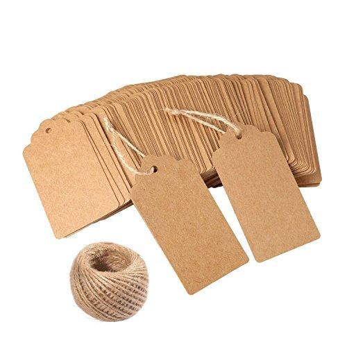 120 etiquetas regalo papel Kraft bricolaje ideales