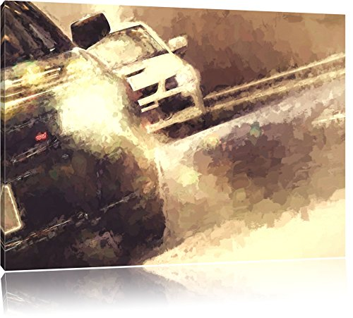 Subaru Impreza STI Format: 100x70 auf Leinwand, XXL riesige Bilder fertig gerahmt mit Keilrahmen, Kunstdruck auf Wandbild mit Rahmen, günstiger als Gemälde oder Ölbild, kein Poster oder Plakat