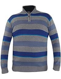 Nouveaux hommes à manches longues tricoté collier zip pull-over Vintage Slim Fit Sweater Top