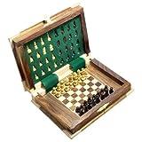 Book Shape Wooden Folding Chess Board An...