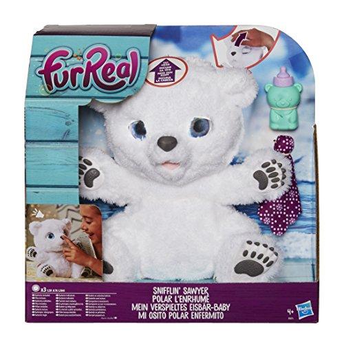furreal torch Hasbro FurReal Friends B9073EU4 - Mein verspieltes Eisbär Baby, Elektronisches Haustier