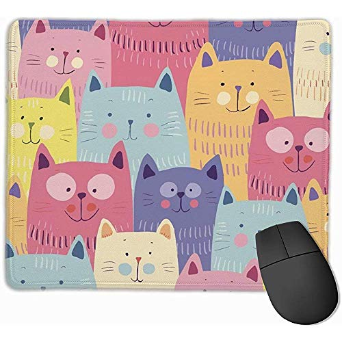 Estas almohadillas para mouse suaves están hechas de material de poliéster de alta calidad, lo que puede hacerte sentir cómodo al usar computadoras, jugar juegos electrónicos. Con un diseño único, nuestras alfombrillas de moda usan un patrón especial...