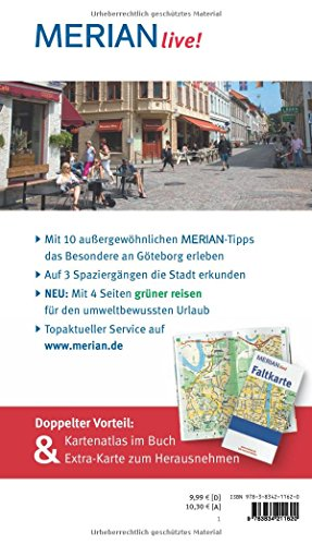 Göteborg: MERIAN live! - Mit Kartenatlas im Buch und Extra-Karte zum Herausnehmen: Alle Infos bei Amazon