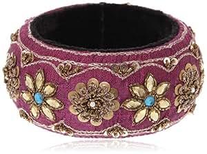 Maya Bangle for Women (Pink) (BANGLE RAW SILK PINK)