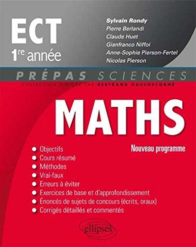 Maths ECT 1re Anne Programme 2014