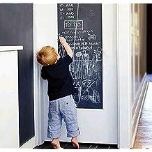 Pegatina de pizarra para pared, para restaurantes, oficinas, decoración de hogar, cocina, salón, dormitorio, con 5tizas de colores, 200 cm x 45 cm