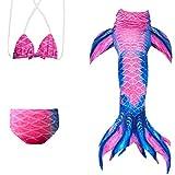 Das beste Mädchen Meerjungfrauen Bikini Kostüm Meerjungfrau Schwimmanzug Badeanzüge Tankini (110, 15)