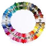 150 Docken Sticktwist Stickgarn 8m 6-fädig Multicolor farblich bunt Basteln Megaset