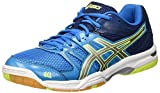 Asics Herren Gel-Rocket 7 B405N-4396 Volleyballschuhe, Blau (Blue Jewel/Glacier Grey/Safety Yellow), 47 EU