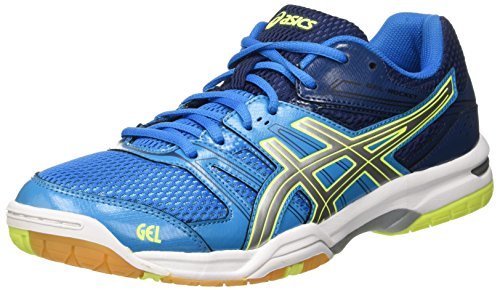 ASICS Gel-Rocket 7, Scarpe da pallavolo Uomo, Multicolore (Blue Jewel/Glacier Grey/Safety Yellow), 44 EU