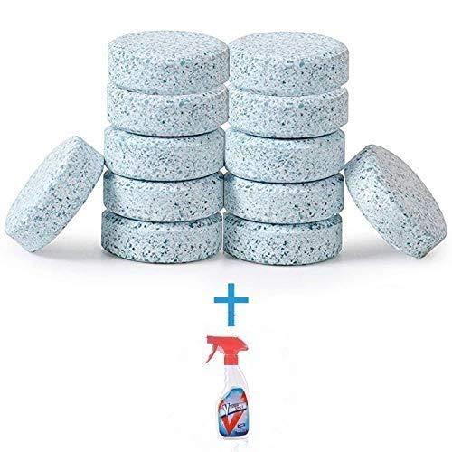 Jadeshay Multifunktions Schäumendes Tabletten-Reinigungsmittel, konzentrierter Reiniger, schäumender Spray-Reiniger für Auto Haus Toilette (Size : 10 Units with Bottle)