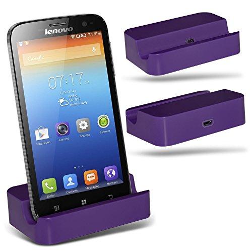 Spyrox (Purple)Lenovo A859 Micro-USB-Desktop-Ladestation stehen Berg