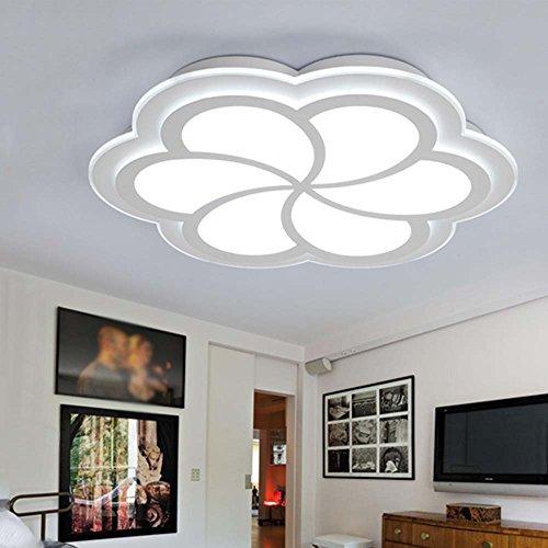 Gute Qualität-- Kreativ blumenförmig ultra-dünne LED niedlich warmes Bügeleisen Deckenleuchten Wohnzimmer für Kinder Schlafzimmer Deckenleuchten (Größe, helle Farbe optional) --Efficiency:A+++ ( Farbe : Weißes Licht-52*6.5cm ) (Weiße Dach-lichter)