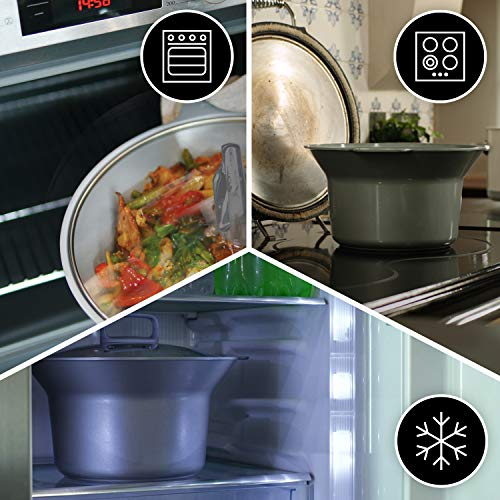 Crock-Pot Csc026X Duraceramic - Olla de cocción lenta de 5 L, Blanco