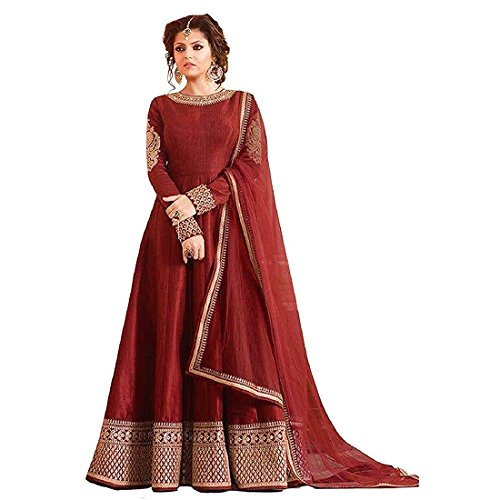 Maroon Color Banglory Silk Fabric Embroidered work Lehenga Choli with Dupatta