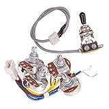 perfk A500K B500K Kabelbaum Potentiometer Schalter für Les Paul Epiphone E-Gitarren Ersatzteil