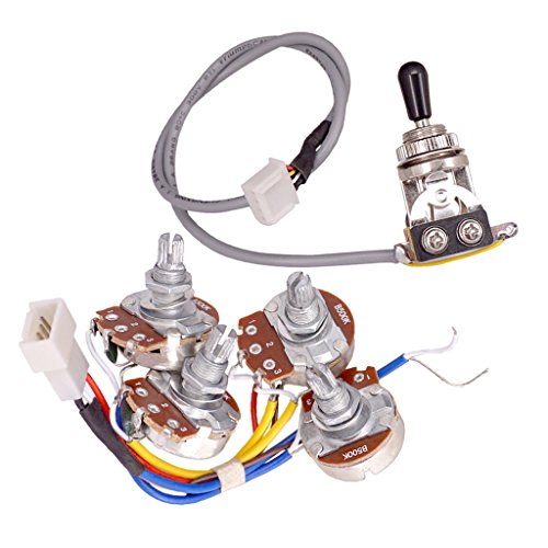 Baoblaze A500K B500K Potentiometer Poti-Set für Lp Gitarre A500k Potentiometer