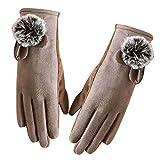 iBaste Handschuhe Damen Winter Touchscreen Handschuhe Elegante Handschuhe Warme Fahrradhandschuhe für OutdoorSport Weihnachten Geschenke für Damen