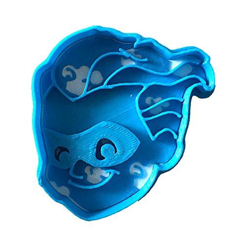 Cuticuter Dash los Increíbles Cortador de Galletas, Azul, 8x7x1.5 cm