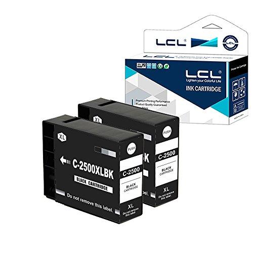LCL(TM) PGI-2500 PGI-2500XL PGI-2500XLBK (2-Pack Noir) Cartouche d'encre Compatible pour Canon MAXIFY IB4050 MB5050 MB5350 MB5150