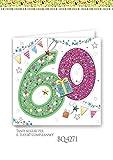 Subito disponibile BOUTIQUE Biglietto auguri compleanno 60 ANNI quadrato a rilievo con appl