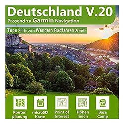 Deutschland V.20 - Profi Outdoor Topo Karte passend für Garmin GPS GPSMap 64, GPSMAP 64s, GPSMap 64st