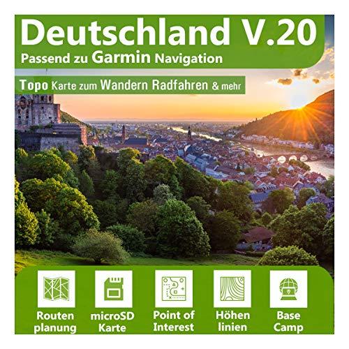 Deutschland V.20 - Profi Outdoor Topo Karte - Topografische Outdoor Freizeitkarte für Garmin GPS Navigation - Zum Wandern, Radfahren, Wandern, Touren, Trekking, Geocaching & mehr...