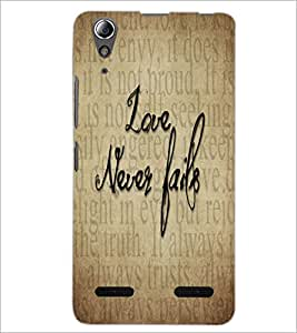 PrintDhaba Quote D-5540 Back Case Cover for LENOVO A6000 (Multi-Coloured)