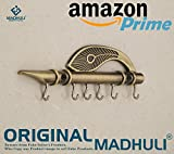 #2: MADHULI® ORIGINAL Lord Krishna's Flute & Peacock Quills Key Stand Key Holder For Home & Office (Genuine)