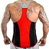 Hommes Athlétique Gilets T-Shirt Débardeur toutes les tailles et les couleurs (L, Black & Gray)