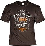 smurfbay Geburtstag T-Shirt - Mitglied im Club der Alten Wilden 1968 - Zum 50er Birthday mit Urkunde