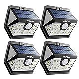 Mpow Solarleuchte mit Bewegungsmelder, Solarlampen für Außen 20 LED Solarlicht 120 ° Weitwinkel Solarlampe Solar Sicherheitswandleuchte Wasserdicht für Garten, Garage, Auffahrt, Pfad, Hof & Balkon