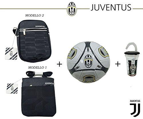 SET UFFICIALE JUVENTUS FOOTBALL CLUB - BORSELLO + PALLONE + BICCHIERE BORSELLO MODELLO 1