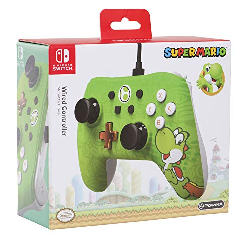 POWER A - Manette filaire Nintendo Switch Iconic Yoshi - 1506257-01