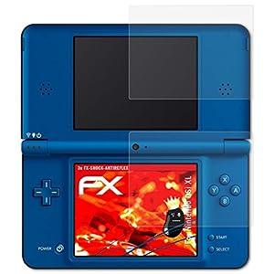 atFoliX Schutzfolie passend für Nintendo DSi XL Folie, entspiegelnde und flexible FX Displayschutzfolie (3er Set)