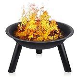 INTEY Brasero en jardín(55.5 * 31.5 cm) para Barbacoa BBQ con Trípode, Resistente a la Abrasión y...
