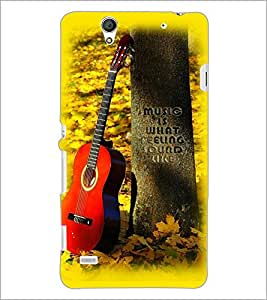 PrintDhaba Guitar D-2250 Back Case Cover for SONY XPERIA C4 (Multi-Coloured)