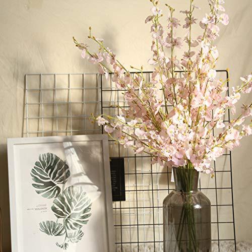 Alisy Blumen künstliche Orchidee Kunstblume für Weihnachten, Halloween, Erntedankfest, Zuhause, Hochzeit, Party, Büro, Blumen, Brautdekoration 98X4cm B -