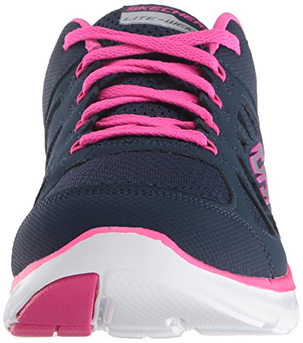 Skechers Flex Appeal 2.0 Simplistic Women's Trainers fitness Lite Weight black Navy/Hot Pink