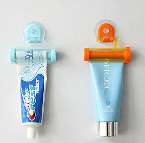 kimberleystore Creative Rolling Zahnpasta Tube Partner Sucker Aufhängen Halter Squeezer Easy Squeeze Spender