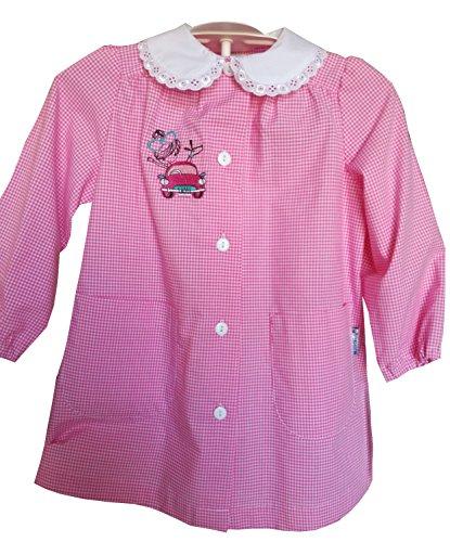 Siggi grembiule 33gr3057 scuola scuola materna bambina bianco/rosa 2-3-4-5-6 anni (45 2 anni)