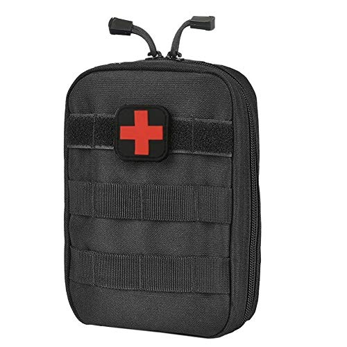 Aranticy Erste Hilfe Tasche, Taktische Gürteltasche MOLLE EDC Tasche Medizinische Notfalltasche Erste Hilfe Set Koffer First Aid Kit Medical Survival Bags Utility Pouch für Haus Auto Sport Outdoor - Molle Medical Pouch